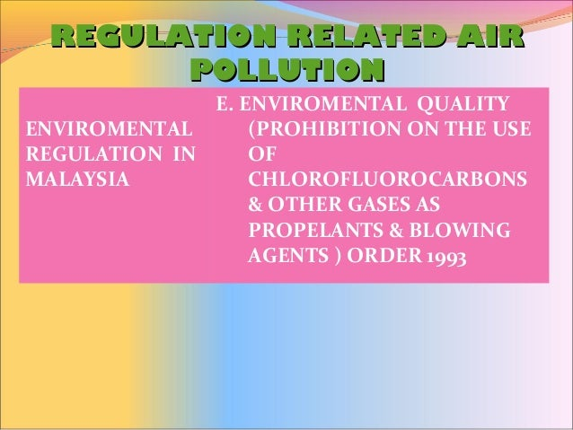 Regulation And Monitoring Of Pollution Gallery Diagram