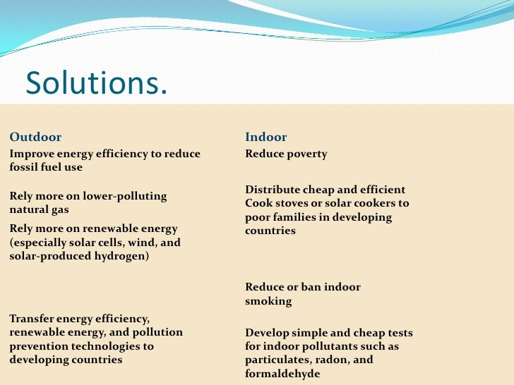 problem-solution essay about water pollution Read this science essay and over 88,000 other research documents water pollution problems in our community water pollution problems in our community water resource issues in the united states have become major problem in the environmental.