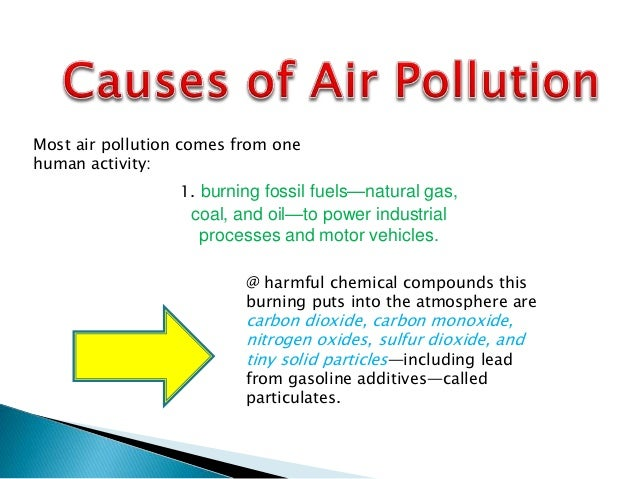 causes and effect of air pollution essay The health risk air pollution poses depend on the type of chemical our bodies were exposed to, and the degree of exposure it can either be short-term or long-term examples of short-term effects are eye irritation, coughing, and sneezing.