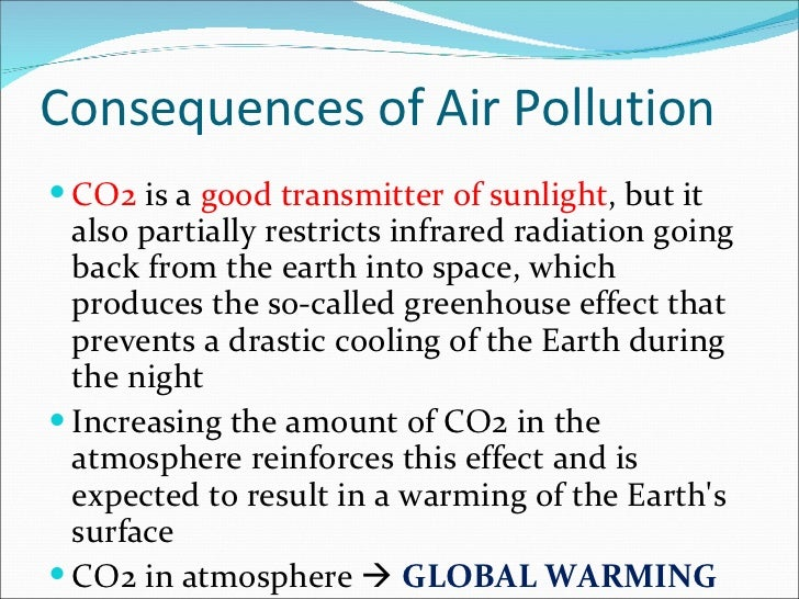 causes and effects of air pollution The effects of air pollution on the environment in the landfills and in the air air pollution is a serious matter causes and effects of water pollution.