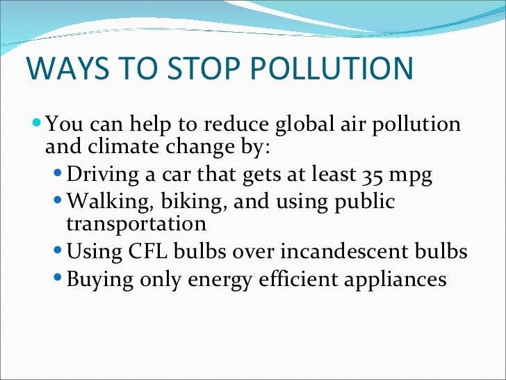 ways to stop polution