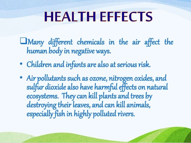 The negative impact of poor air quality on humans and plants