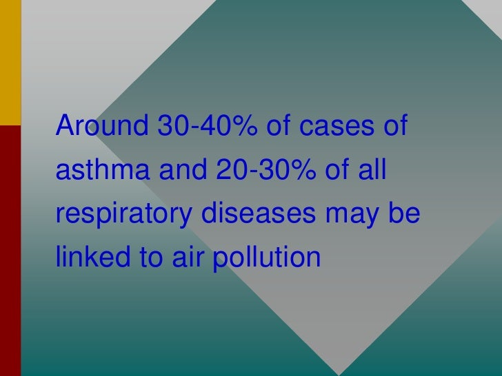 -   increased acute respiratory diseases -   lowered lung function in children -   increased sickness rates; -   increases...