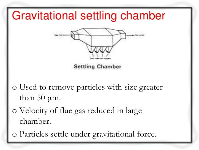 settling chamber
