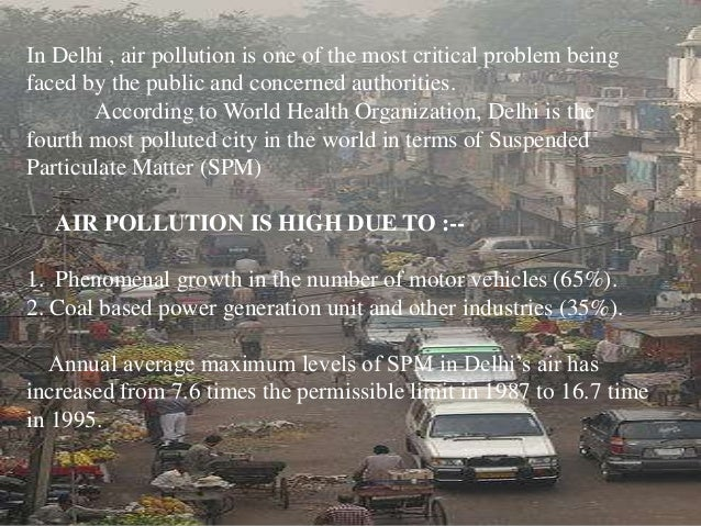 Pollution in delhi essay