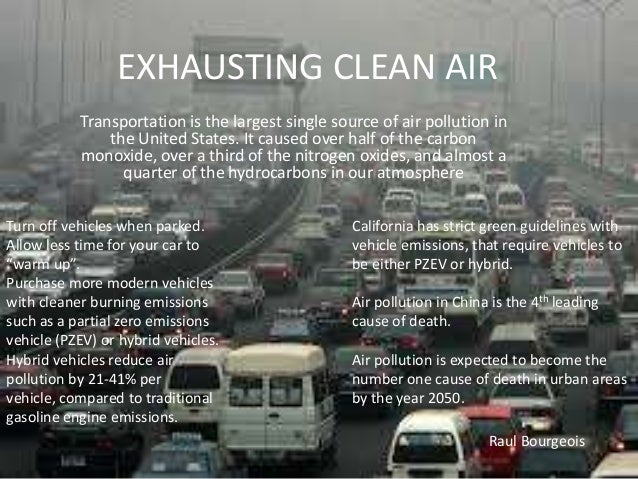 essay on vehicular pollution Category: essays research papers title: automobile air pollution.