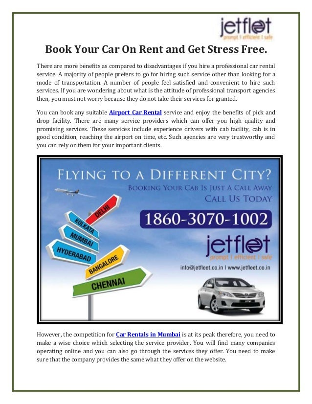 Book Your Car On Rent And Get Stress Free