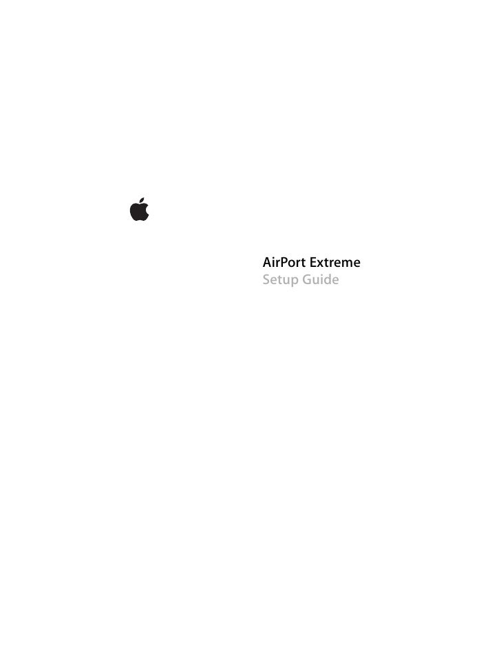 AirPort Extreme Setup Guide