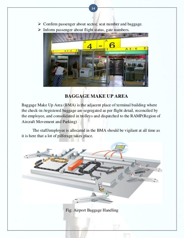 14   Confirm passenger about sector, seat number and baggage.  Inform passenger about flight status, gate numbers.  BAGG...