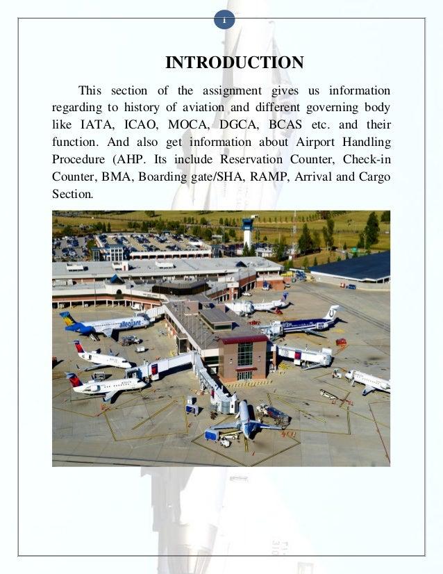 Airport handling procedure  Slide 2