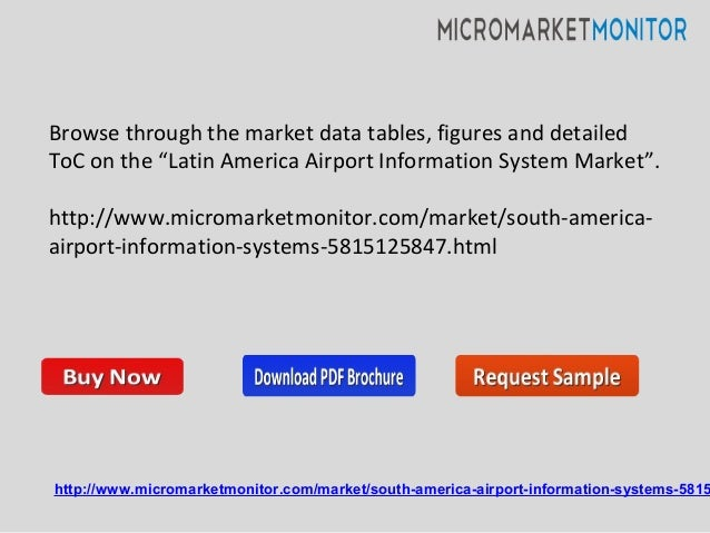 """Browse through the market data tables, figures and detailed ToC on the """"Latin America Airport Information System Market"""". ..."""
