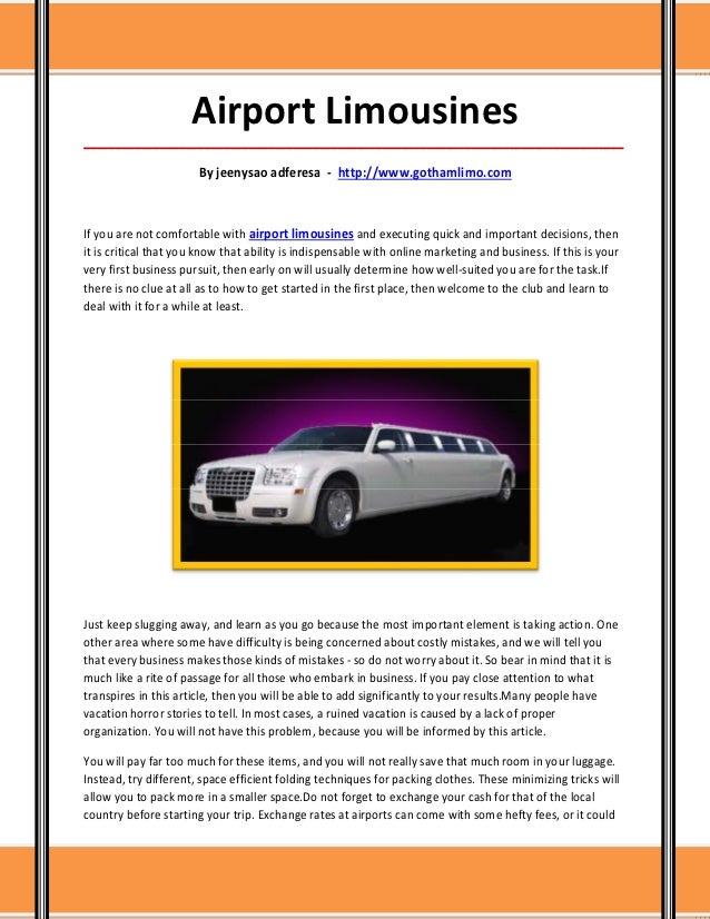 Airport Limousines_____________________________________________________________________________________                   ...