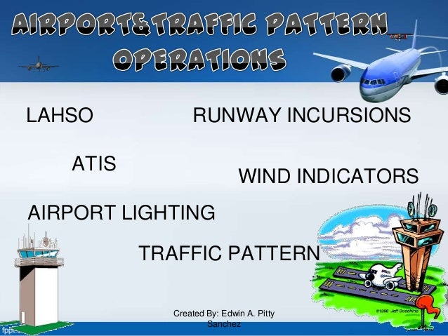 LAHSO RUNWAY INCURSIONS TRAFFIC PATTERN WIND INDICATORS ATIS AIRPORT LIGHTING Created By: Edwin A. Pitty Sanchez