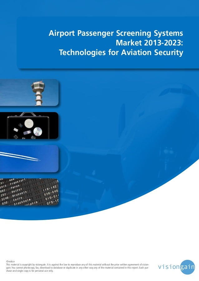 Airport Passenger Screening Systems Market 2013-2023: Technologies for Aviation Security  ©notice This material is copyrig...
