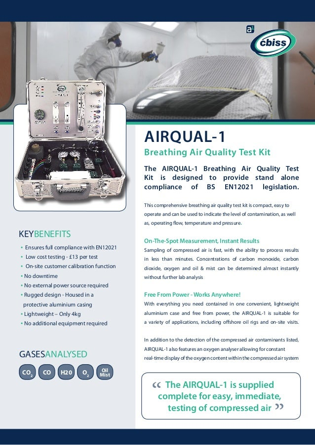 airqual1 breathing air quality test kit the airqual1 breathing air quality test