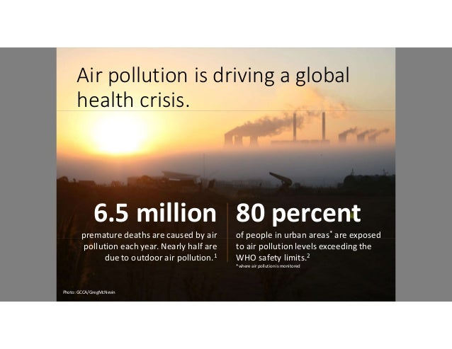 Air quality and its implications on our health Slide 2