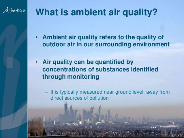 Ambient Air Quality Monitoring In Southern Alberta