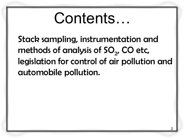 Air quality sampling and monitoring m5 Slide 2