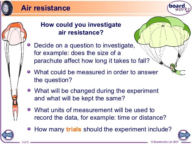 Air Resistance Year 4 Science