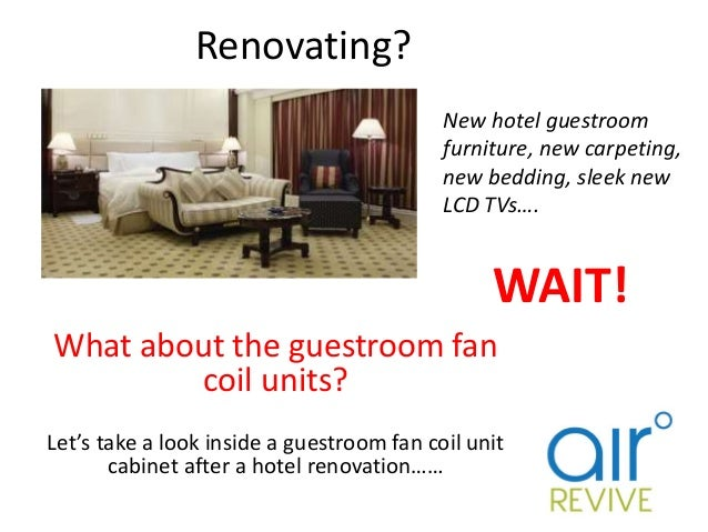 Renovating? What about the guestroom fan coil units? Let's take a look inside a guestroom fan coil unit cabinet after a ho...