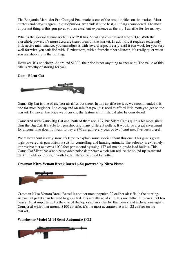 Air rifle reviews guide of finding the best air rifle