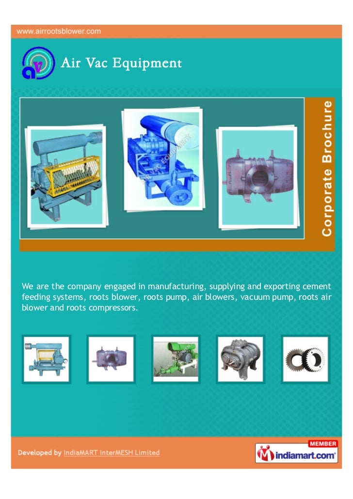 We are the company engaged in manufacturing, supplying and exporting cementfeeding systems, roots blower, roots pump, air ...