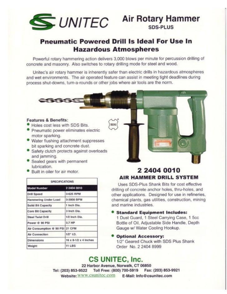 CS Unitec Air Rotary Hammer: Ideal Powered Drill in Hazardous Environ…