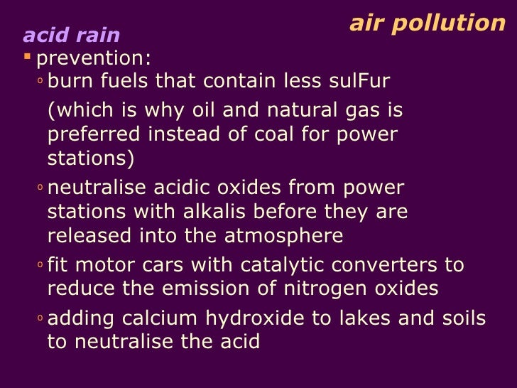 Acid Rain Prevention