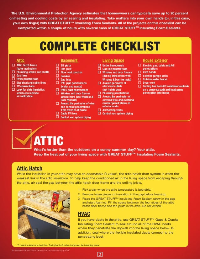 Dow Chemical Air Seal Audit Checklist