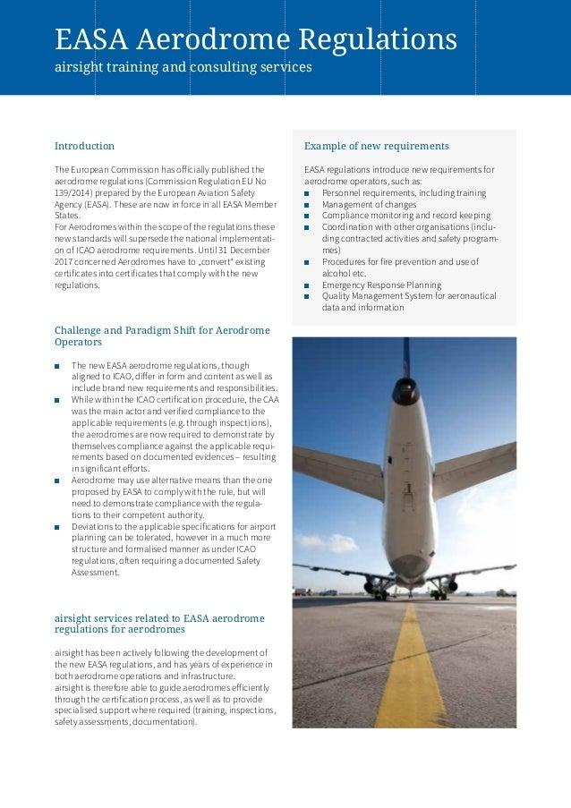 airsight easa aerodrome regulations