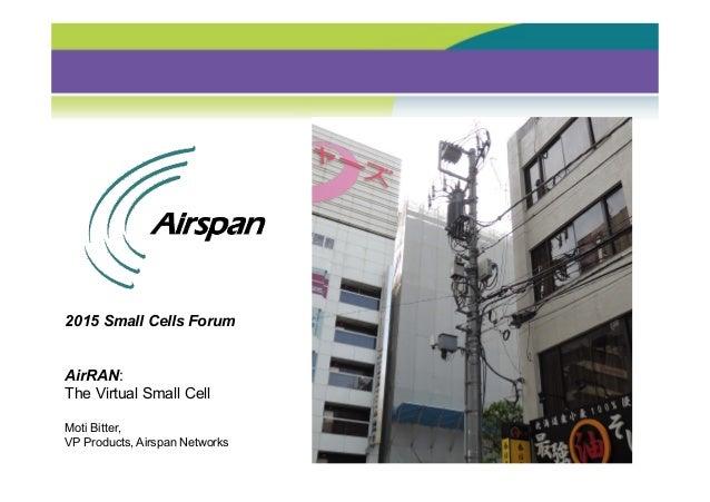 Airspan network densification using outdoor and indoor for Indoor network design