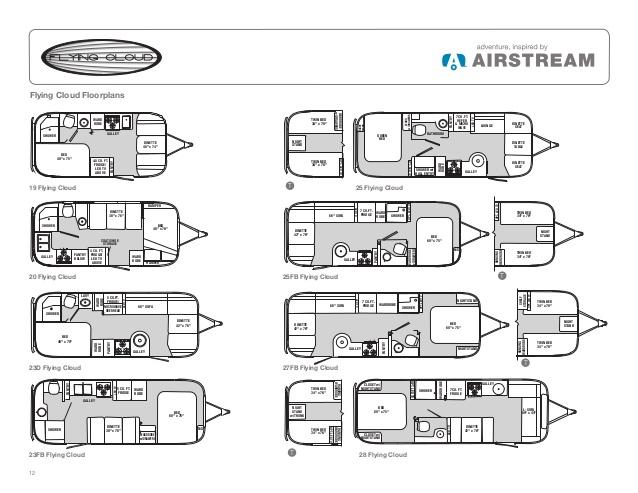 Airstream Travel Trailers 2013 Brochure - Airstream Travel Trailers Floor Plans