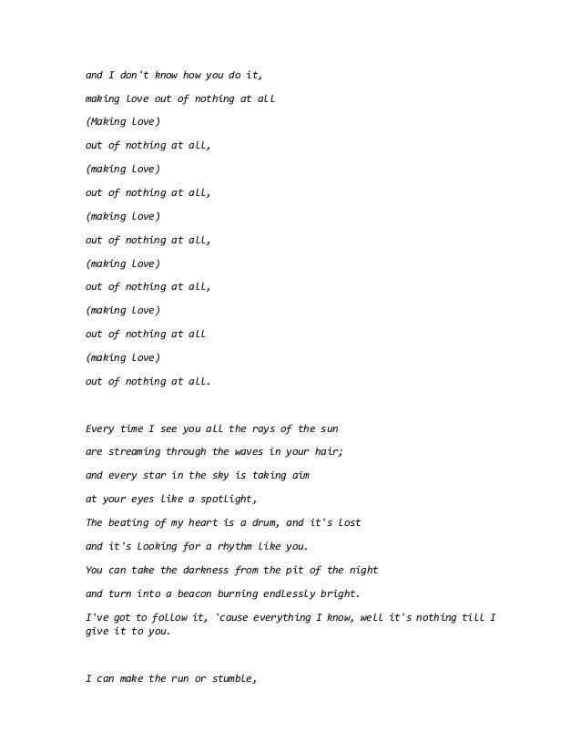 Lyric lean on me with lyrics : Air supply lyrics