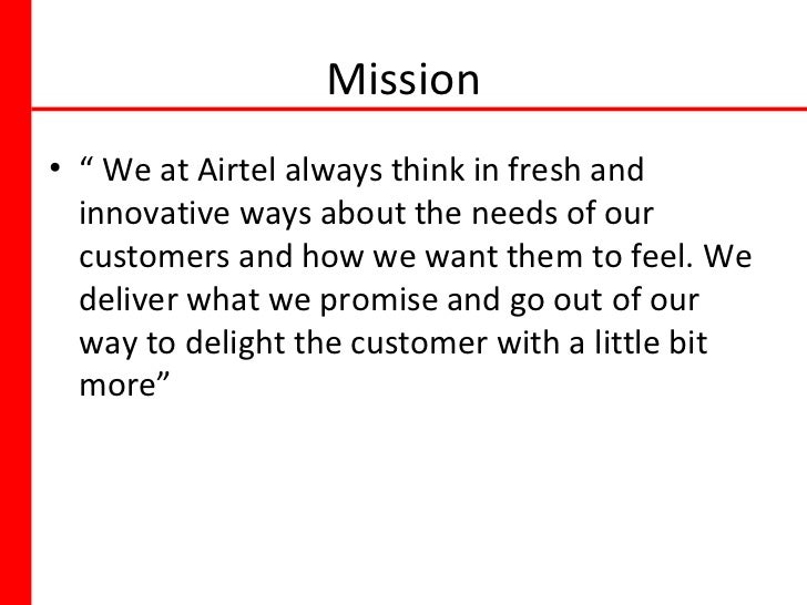 vision mission of airtel Autoliv's mission is to be the leading supplier of safety systems for the future car, well integrated with autonomous driving autoliv's vision of saving more.