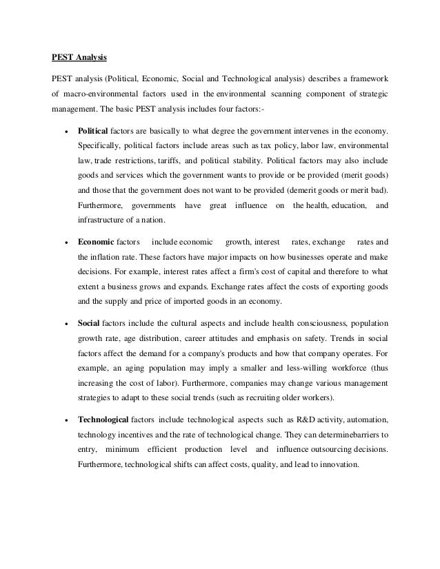 pestel analysis for digi Essays: pest analysis of siemens technological factors the 21st century has seen the internet, email and other technological advancements dominate the busines.