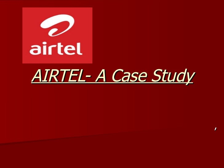 Financial accounting slides airtel case study
