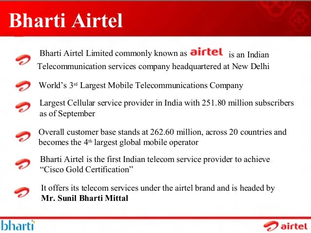 forecast of bharti airtel subscribers