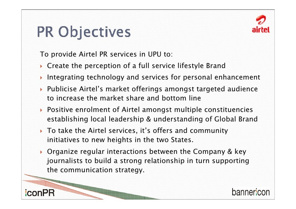 pr strategies of airtel Essays - largest database of quality sample essays and research papers on pr strategies of airtel.