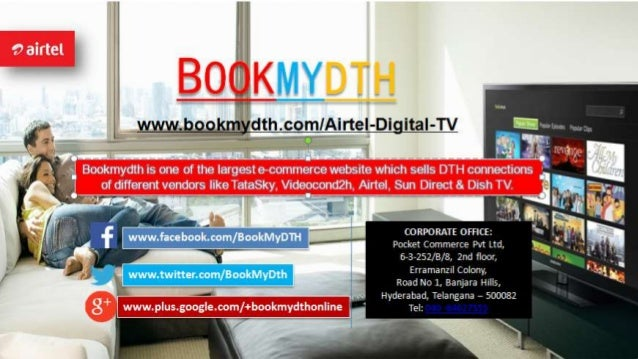 Airtel Digital TV | DTH Price & Packages Only at Bookmydth com
