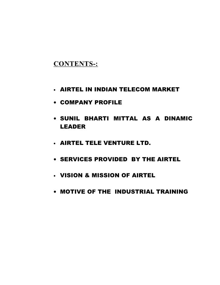 What Is The Mission Statement Of Bharti Airtel?