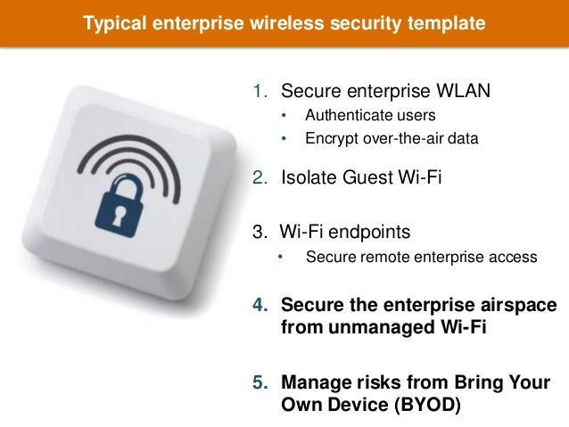 Implementing Enterprise Wireless Security Policy in the BYOD Era