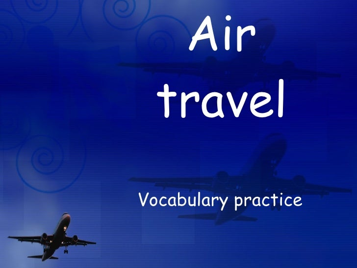 Air travel Vocabulary practice