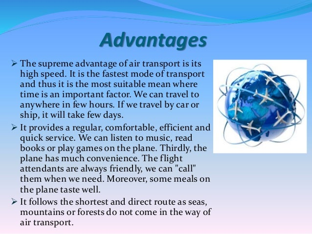Advantages and disadvantages of air travel essay