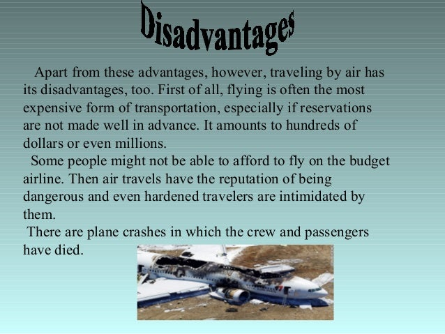 disadvantages of travelling essay