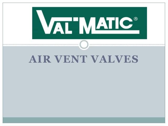 AIR VENT VALVES
