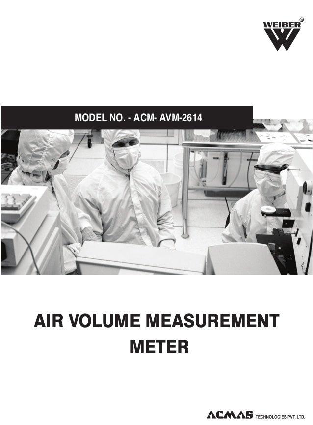 R  MODEL NO. - ACM- AVM-2614  AIR VOLUME MEASUREMENT METER