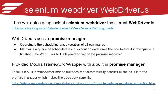 Node js and Selenium Webdriver, a journey from the Java side