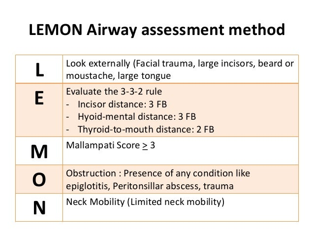 Bildresultat för airway evaluation lemons