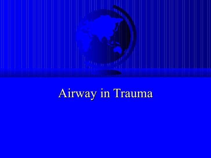 Airway in Trauma