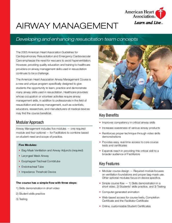 AIRWAY MANAGEMENTDeveloping and enhancing resuscitation team conceptsThe 2005 American Heart Association Guidelines forCar...